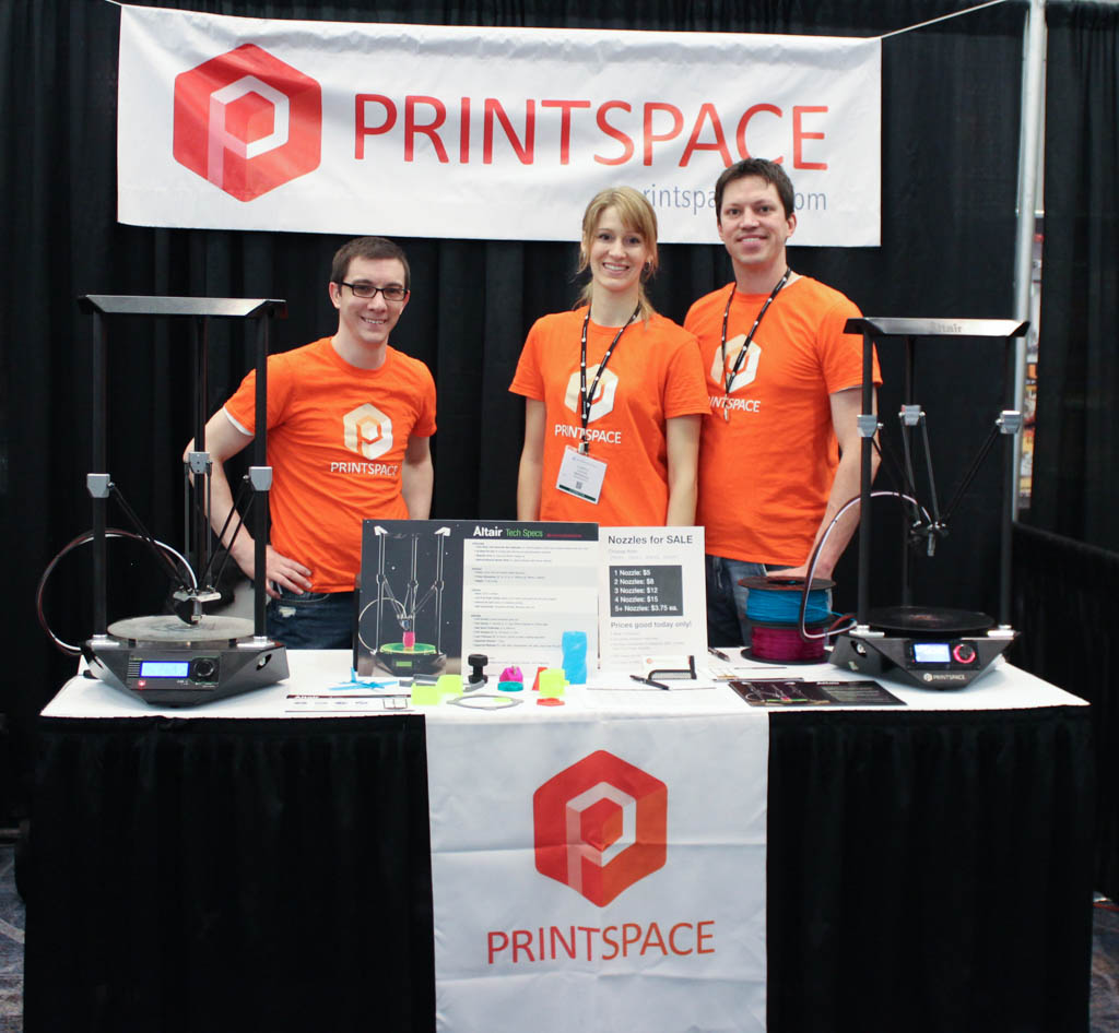 The PrintSpace Team, Chris, Larissa, and Mark.